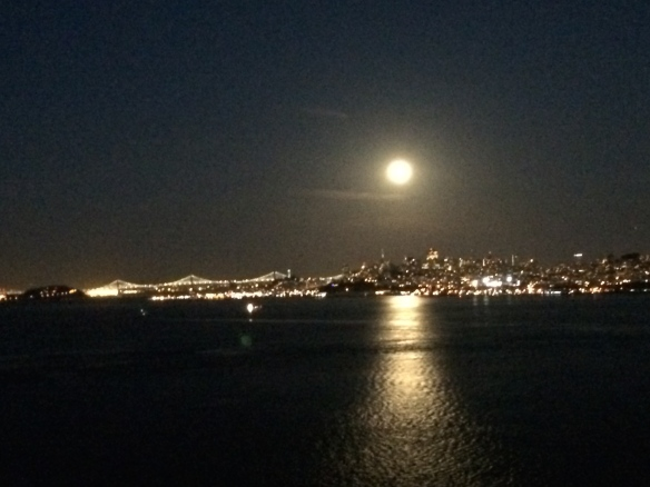 San Francisco @ night from the Golden Gate Bridge - May 2014