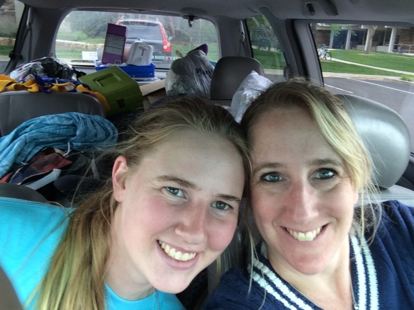 With my baby girl, all packed up, and going home! - May 2014