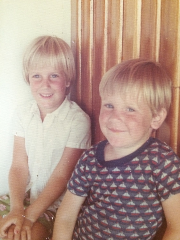 With Roger @ our beach house in Ancon - circa 1974.