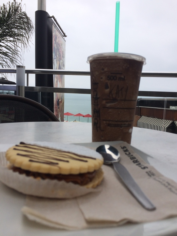 Frap, alfajor and soaking in the ocean breeze.....doesn't get much better! - May 2014