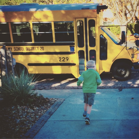 ...so excited to jump on the bus and head off to school!