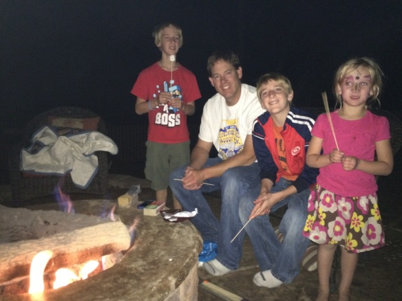 ....getting in more s'mores during the last days of summer....